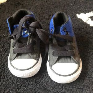 Converse black and blue baby